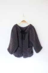 30%OFF Virginieee Fluffy×silk short coat