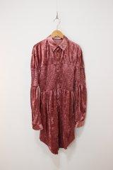 KISHIDAMIKI shirring valor shirt