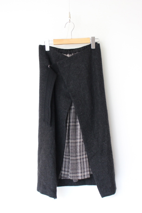 画像1: you ozeki wrap skirt+innner skirt